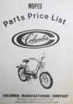 Columbia Parts Price List