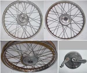 Derbi spoke wheels