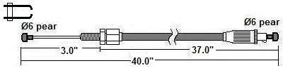Hercules front brake cable, double ended