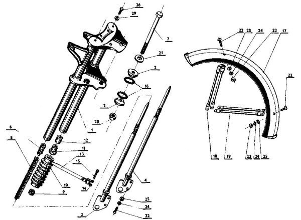 Jawa 207 Parts Diagram 12
