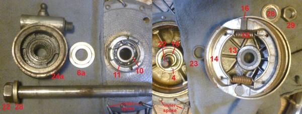 Jawa Front Wheel Parts
