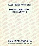 Jawa Parts List Model 207.111