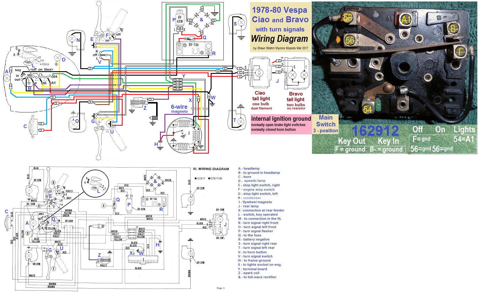 Vespa Bravo Moped Wiring Diagram Diagrams Scooter Turn Signal Electrical U00ab Myrons Mopeds 50cc 150cc