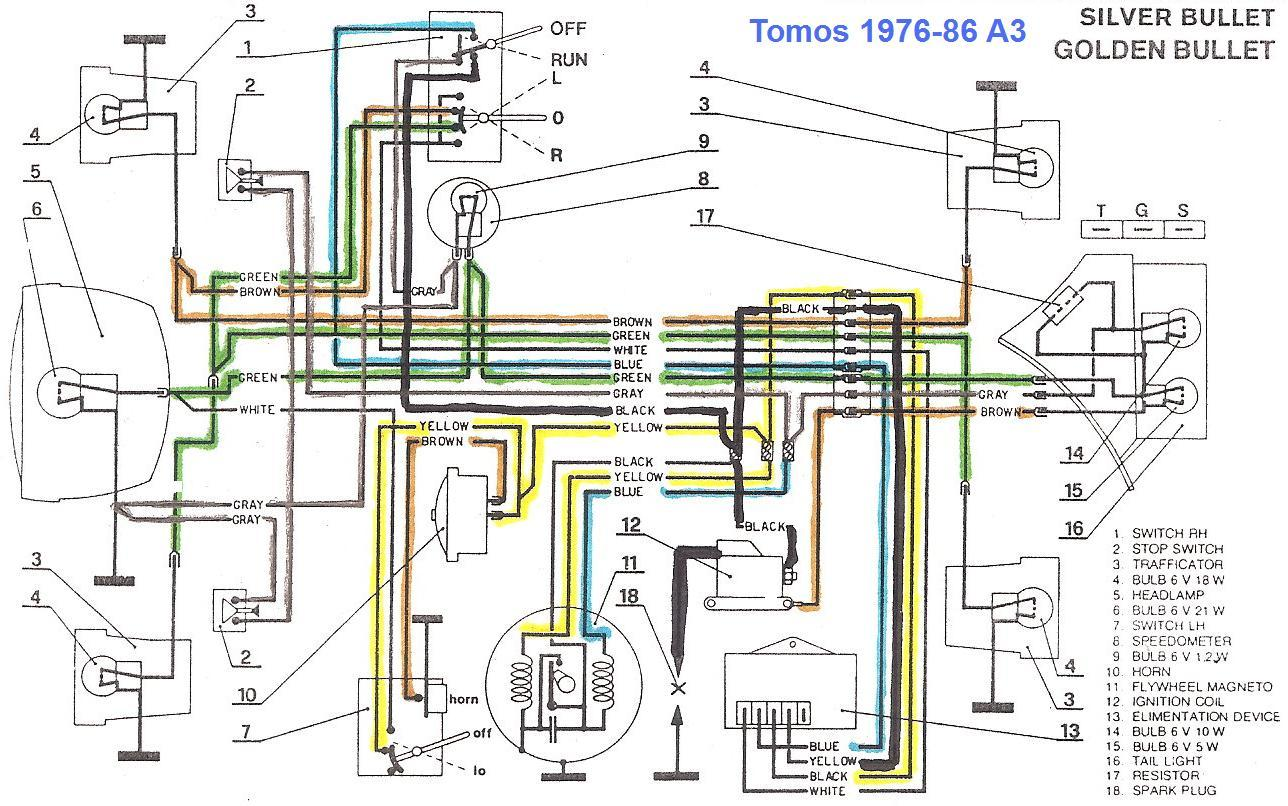 Tomos A3 Wiring Diagram 23 Images Diagrams 2000 Silver Bullet Re 1986 Golden Dies When Using Brakes Moped Army