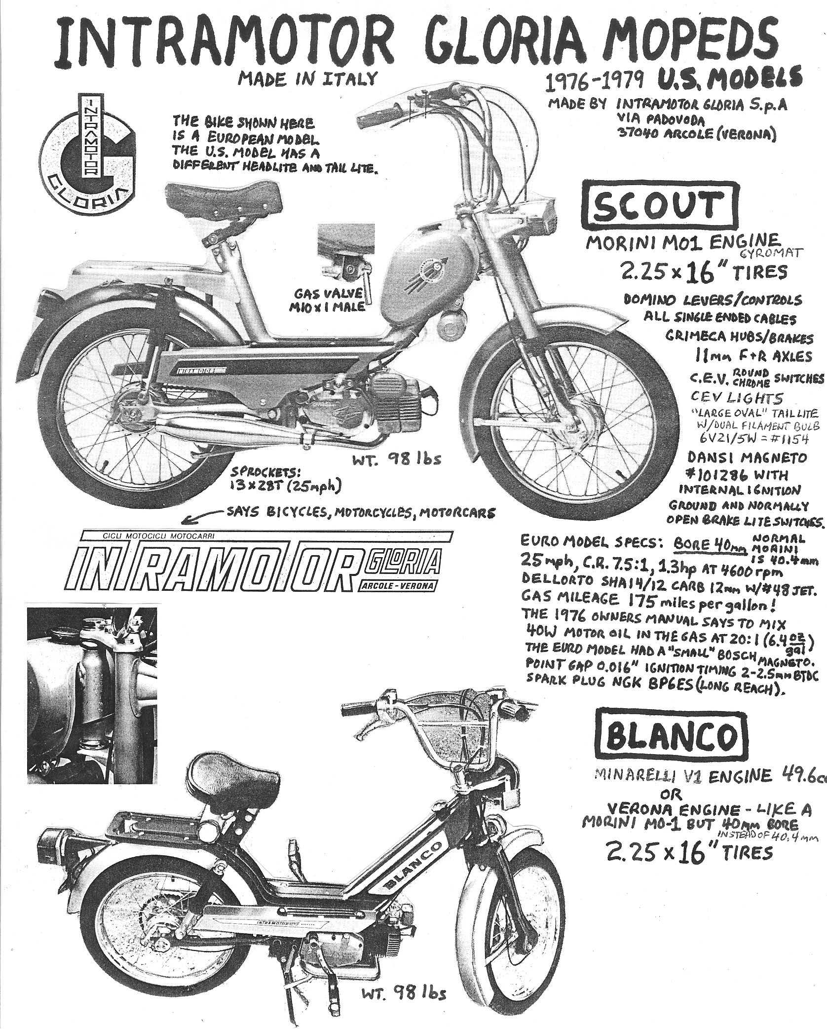 Intramotor Parts Myrons Mopeds 1954 Allstate Scooter Wiring Diagram Info